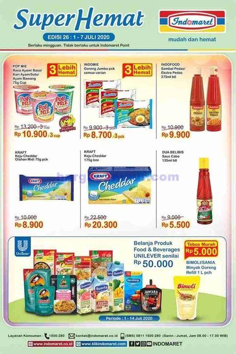 Promo Indomaret Hari Ini 7 Juli 2020 Harga Spesial Produk Diaper Hingga Pembersih Lantai